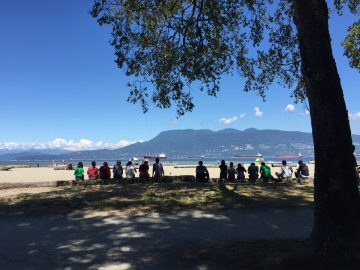group BBQ at Locarno Beach