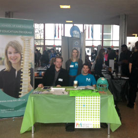 booth at the career fair